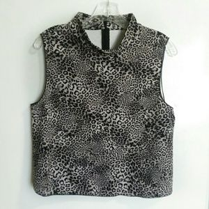 NWT Vince Camuto animal print, scuba knit, size M